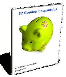 Cover van 52 Gouden Bespaartips
